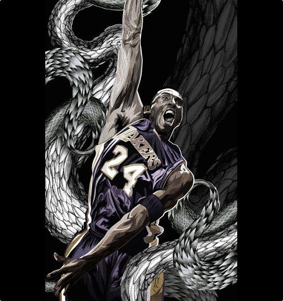 Kobe Bryant 'Black Mamba' Illustration