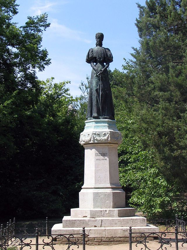 The statue of Empress Elisabeth of Austria in the Erzsébet Park in Gödöllő