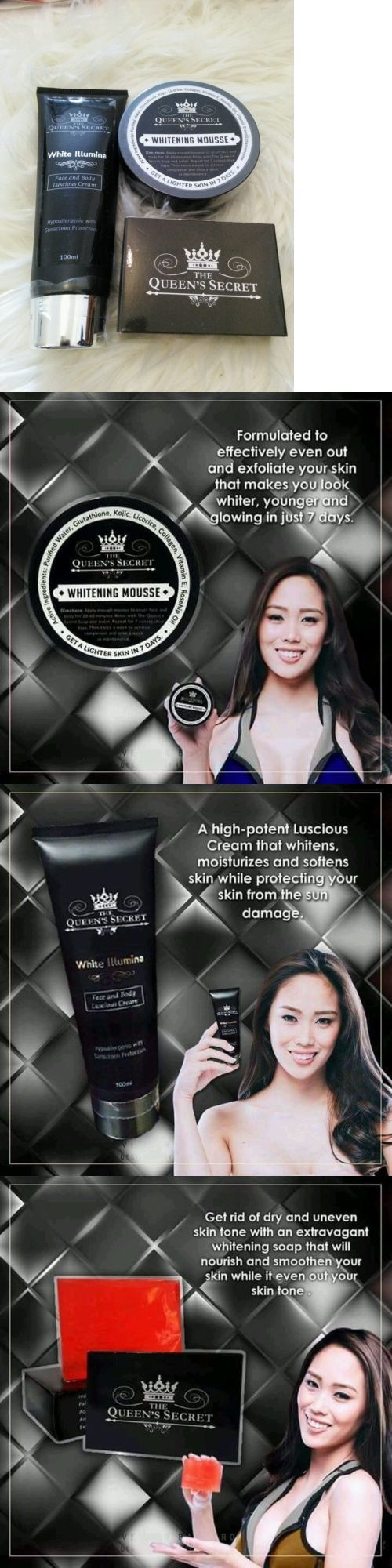 Lightening Cream: The Queens Secret Skin Care Bundle (Face And Body) Whitening, Anti-Aging -> BUY IT NOW ONLY: $42.75 on eBay!