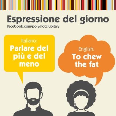 Italian / English idiom: to chew the fat