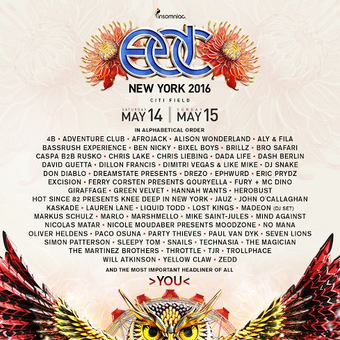 Insomniac's New York edition of the global Electric Daisy Carnival empire will return to Citi Field on May 14 and 15. The festival, celebrating its fifth anniversary in New York this year, promises to be bigger and more extravagant than [...]