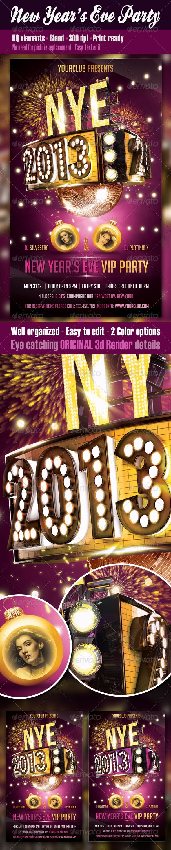 New Years Eve Party Flyer