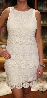 Sanctuary Clothing D600-X72 White Lace Sleeveless Dress