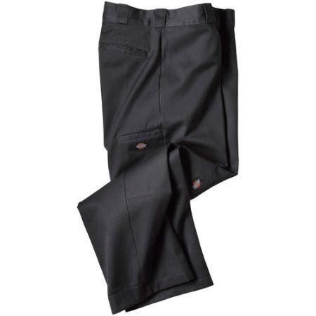 Dickie's Double Knee Work Pants, Men's, Size: 36 x 30, Black