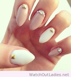 Nice simple stiletto nails idea - watchoutladies.net