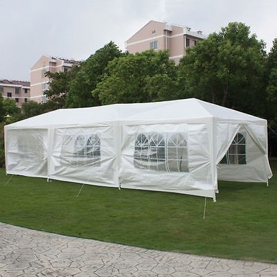 Tent Party Gazebo Canopy Tents White Sidewalls Awnings Wedding Outdoor Gazebos - n/a - Skrootz Home Stores - 11