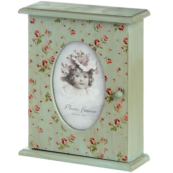 floral key box with photo frame