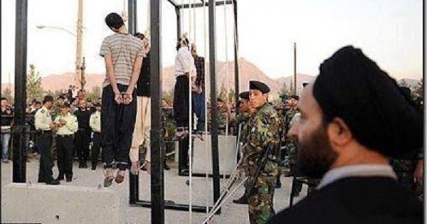 """Sambil Mencaci Maki Sahabat dan Bersorak """"Matilah Wahabi!,"""" Syiah Menggantung Ahlus Sunnah di Iran"""