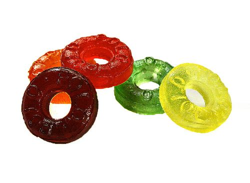 Fruity Polos! - utter joy when a red or purple was at the top....but gutting when it was a yellow or green!
