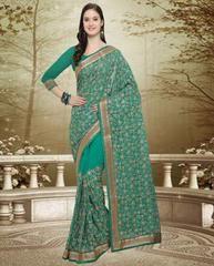 Green Color Georgette Designer Party Wear Sarees : Swatir Collection YF-64532