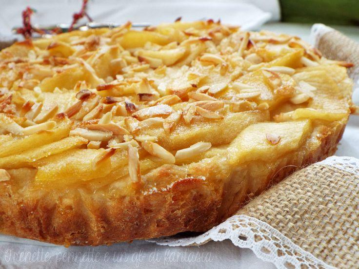 Torta+di+mele+senza+uova+ dolce+lievitato