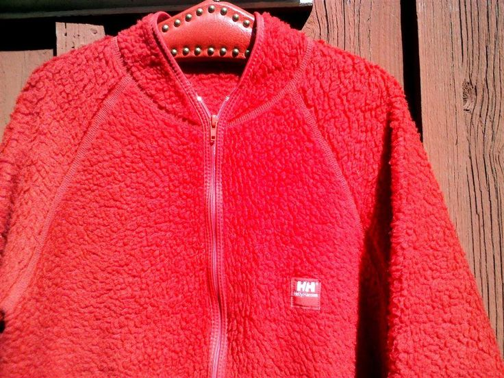 RETRO HELLY HANSEN TRÖJA JACKA VINTAGE FIBERPÄLS FLEECE Stl L men´s 54-56