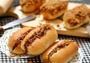 Beef Floss Bun aka Roti Abon mini,-step by step- ^^