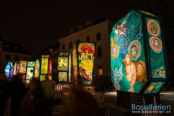 Laternenausstellung auf dem Münsterplatz #Basel an der Basler #Fasnacht 2013 (19.02.2013)