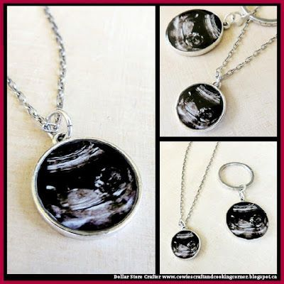 Turn Ultrasound / Sonogram Pictures Into A Necklace Or Key Chain