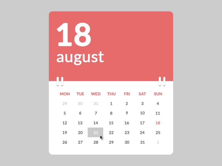 Calendar - by Marco Biedermann | #ui