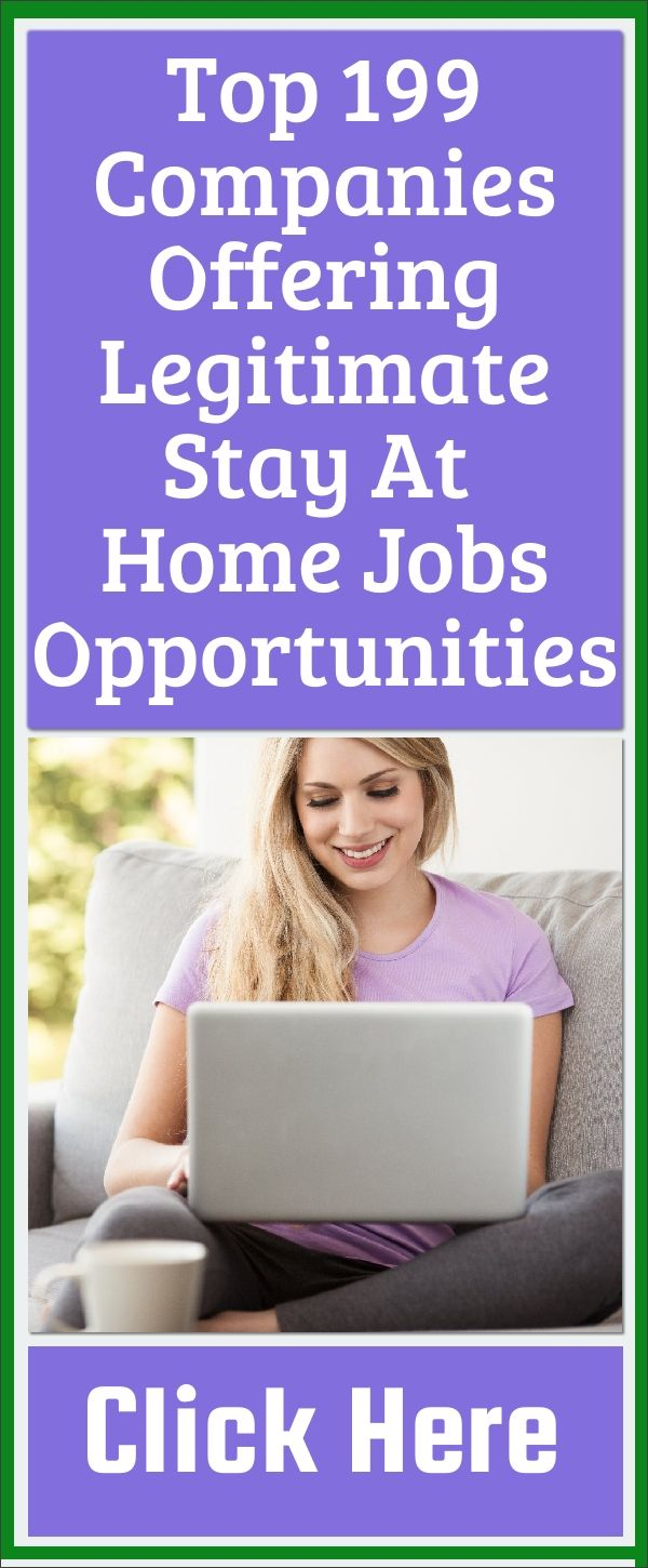 Top 199 Companies Offer Legitimate Best Stay at Home Jobs Opportunities.   #make #money #online #from #home #mom #ideas #jobs #extra #get #paid #ideas #business #opportunities #computer #internet #legit #ways #earn #tips #tricks #more #work #workfromhomejobs #paid #surveys