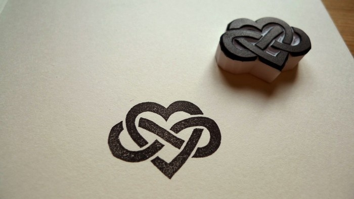 Infinite Love Hand-carved Rubber Stamp. $10.00, via Etsy- bridesmaid's gifts: Tattoo Ideas, Celtic Heart, Infinity Heart, Heart Design, Tattoo Design, Celtic Knot, Infinity Symbol, Design Tattoo, Cool Tattoo