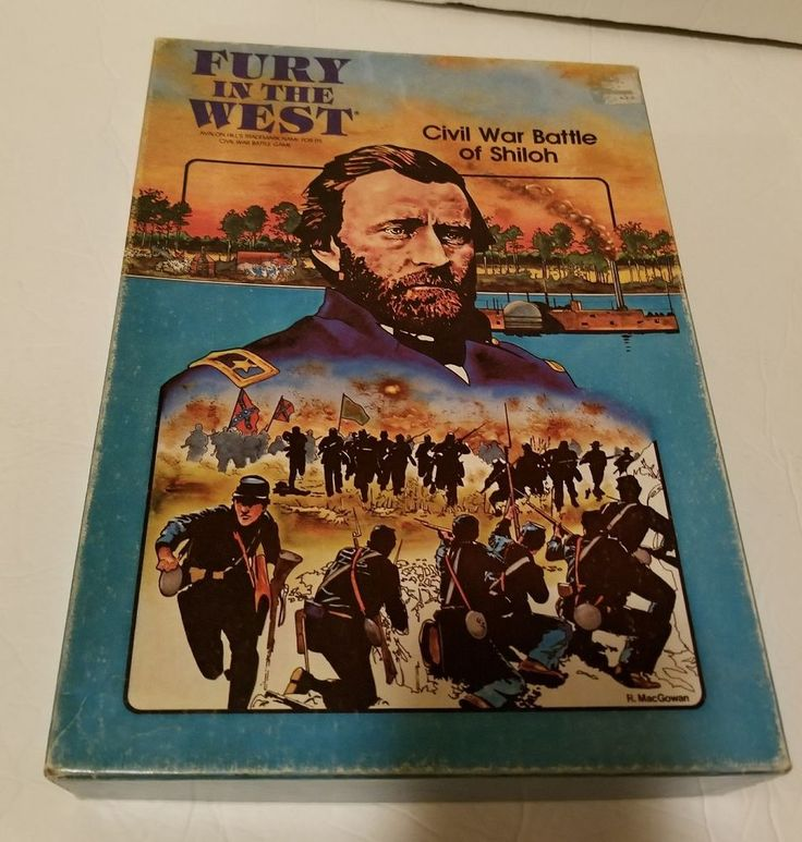 1981 Fury in the West Civil War Battle of  Shiloh Game Avalon Hill Vintage | Toys & Hobbies, Games, Board & Traditional Games | eBay!