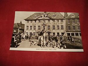 VINTAGE-NORFOLK-KINGS-LYNN-Dukes-Head-Hotel-RP-b-w