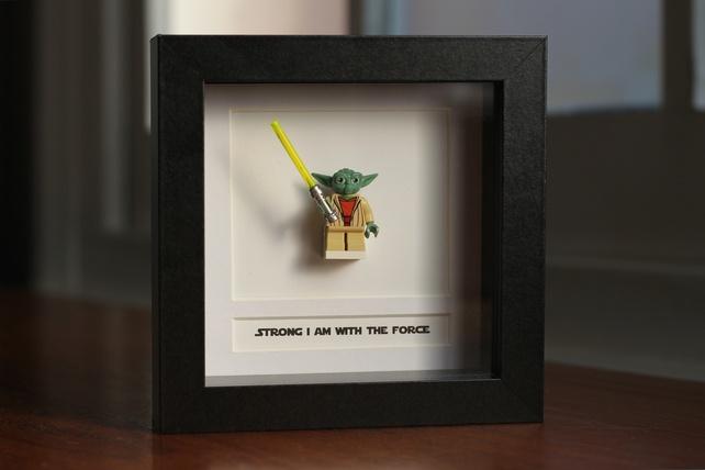 yoda he does loveBoxes Character, Figures Master, Wars Lego, Stars Wars, Master Yoda, Shadows Boxes, Minis Figures, Yoda Frames, Lego Minis