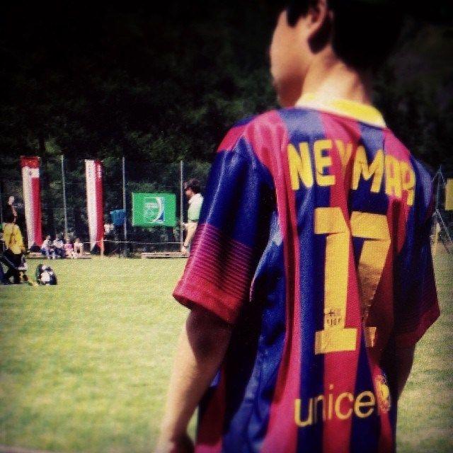 Ein Neymar-Fan am 17. #seppblatterturnier in Ulrichen. Wer sind eure #idole? #footballmoments