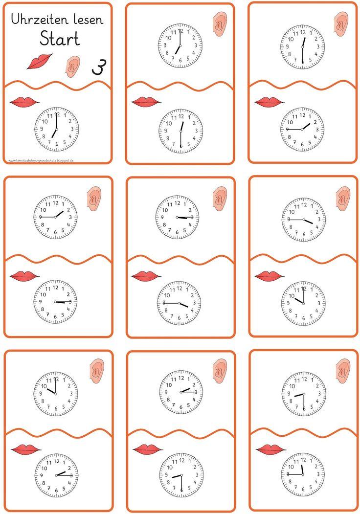 36 besten uhr lernen bilder auf pinterest uhrzeiten grundschulen und mathematik. Black Bedroom Furniture Sets. Home Design Ideas