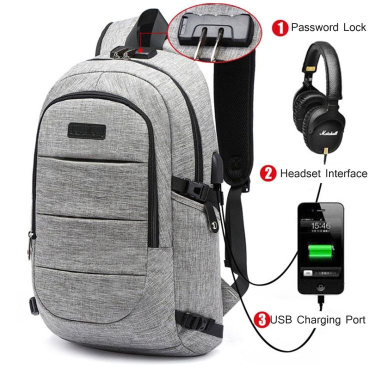 SUMSUNSHINE Laptop Backpack, Anti-theft Business Laptop Backpack with USB Port - Water Resistant Travel Backpack Book School Bag for College Student Work Men & Women