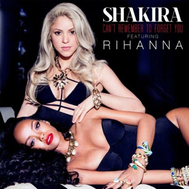 Bling and body: Shakira and Rihanna have revealed the cover art for their highly anticipated duet Can't Remember To Forget You, which premie...