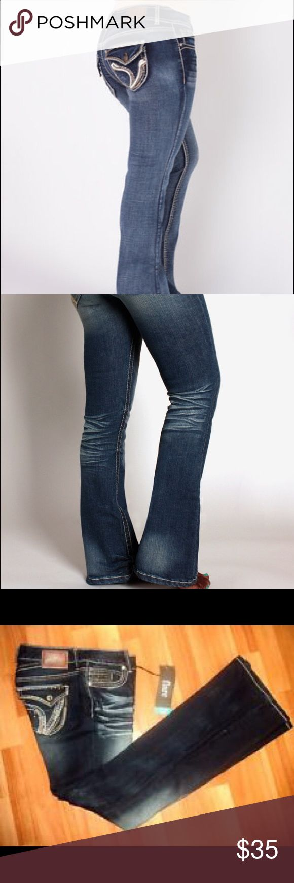 NWT Ariiya 👖 jeans NWT curvy  jeans 👖 no gap in the back and contoured the butt area size 5/6 Jeans Flare & Wide Leg