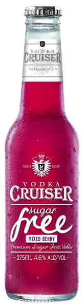Vodka Cruiser Sugar Free Mixed Berry.