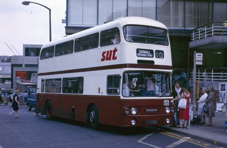 https://flic.kr/p/dxWW8U | 69. WFS 270K: SUT, Sheffield | Picking up in Haymarket, Sheffield city centre, SUT WFS 270K is a Leyland Atlantean PDR1A/1 with Alexander J type dual door bodywork, new in 1972. It was among a large number of similar buses acquired by SUT from Lothian Region Transport in 1988.