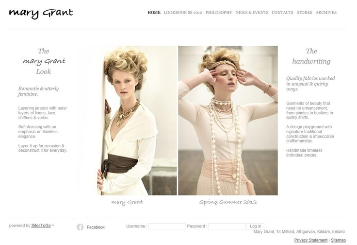 Mary Grant opted for a clean and elegant design in order to complement their product imagery displayed in their collection galleries. This website comes with a content management system allowing the client to update their seasonal collections.