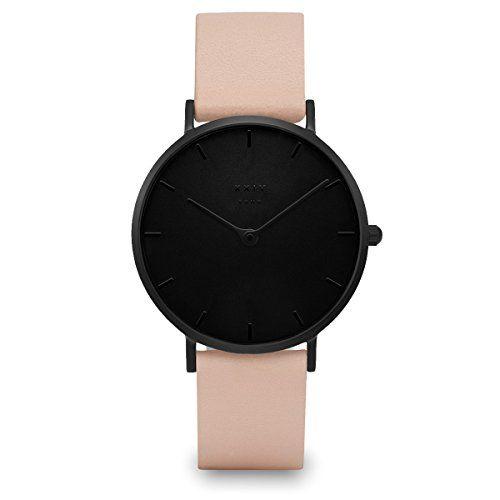 XXIV SOHO Damen Armbanduhr Leder Nude Black - http://uhr.haus/xxiv/xxiv-soho-damen-armbanduhr-leder-5
