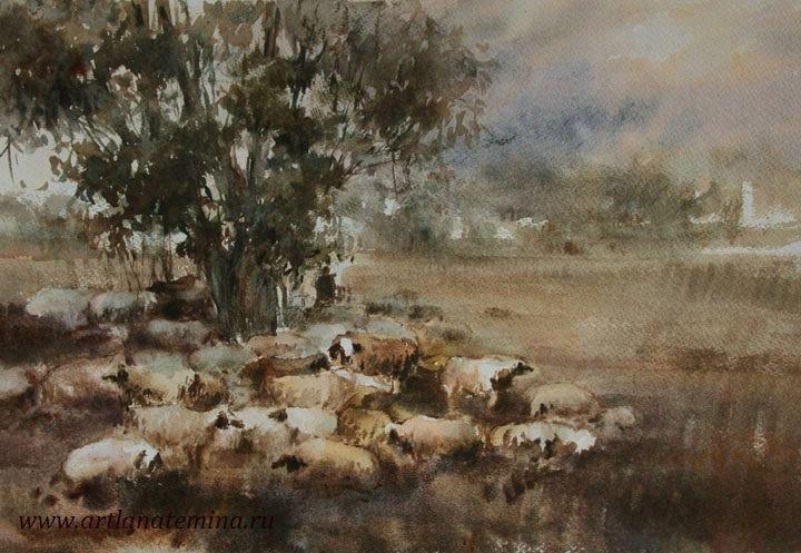 Галерея  Акварели  Лана Тёмина  живопись  картины  акварелью #watercolor #painting #акварель.#акварельный #пейзаж