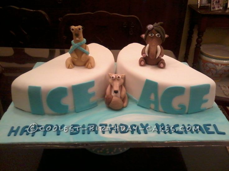 Coolest Ice Age Cake... This website is the Pinterest of birthday cake ideas
