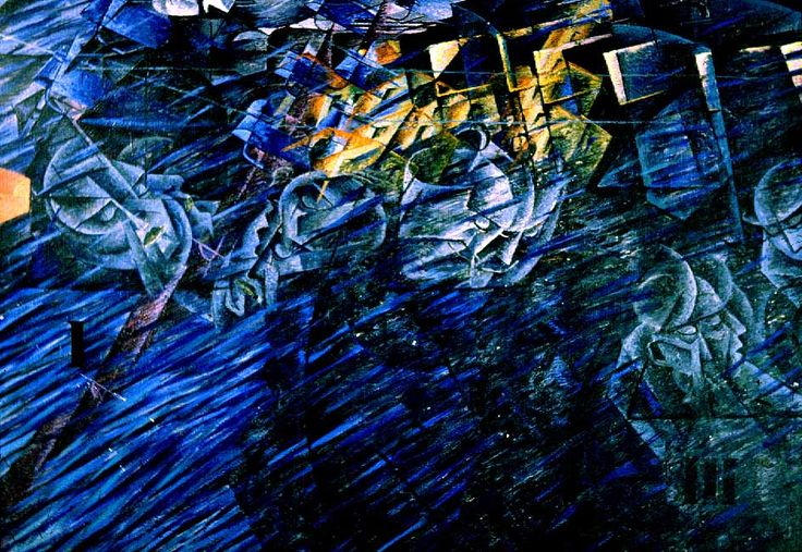 Umberto Boccioni, States of Mind II: Those Who Go, 1911. Colore ad olio, 71 cm x 96 cm
