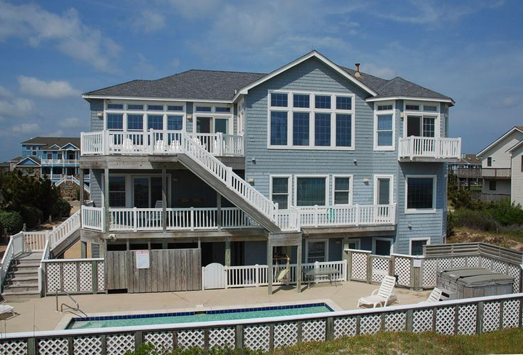 Hakuna Matata I - J11029 is an Outer Banks Oceanfront vacation rental in Whalehead Corolla NC that features 6 bedrooms and 6 Full 1 Half bathrooms. This rental has a private pool, an elevator, and a theater room among many other amenities. Click here for more.