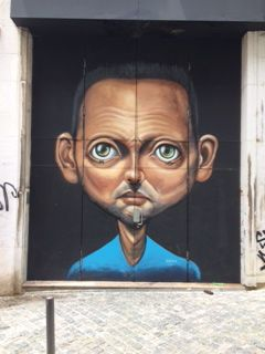 Street art in Lisbon popping up everywhere, adding to this city's unique personality