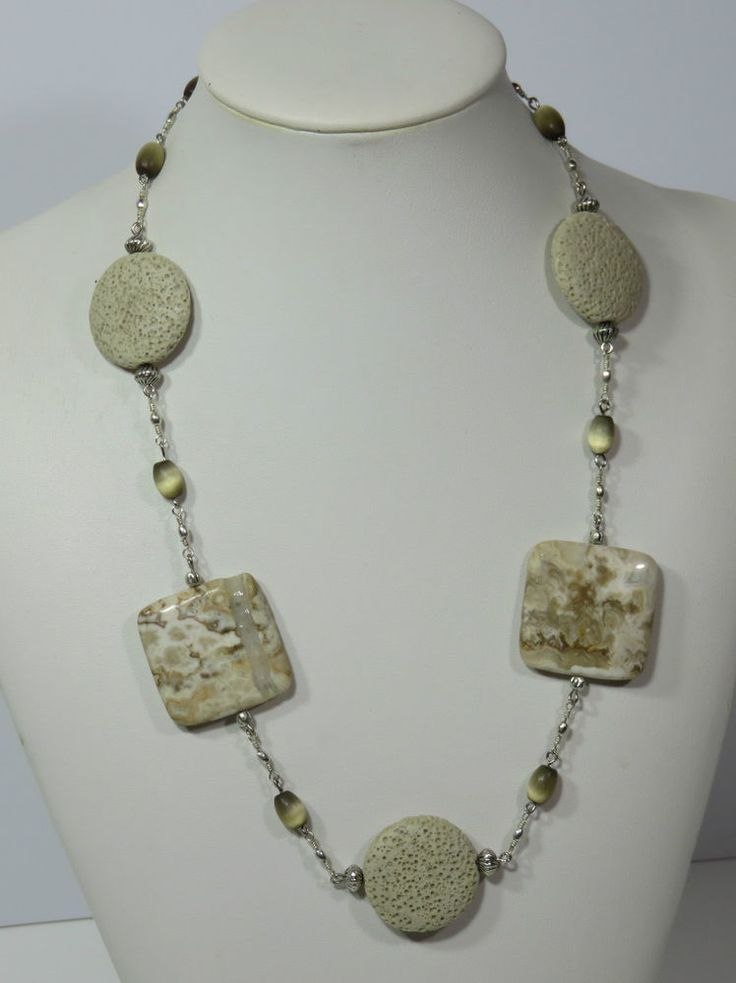 NECKLACE HANDMADE CRAZY LACE AGATE