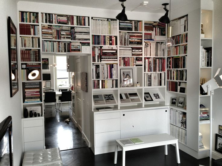 blackistheonlycolor:  Someone asked me to take a better photo of my book shelf, it's kind of hard with only my iPhone but I hope this will d...