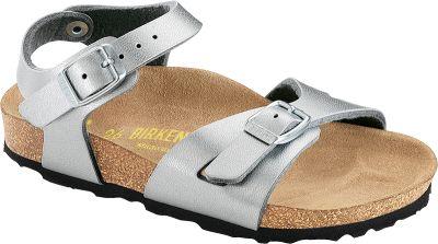 Schuhe von BIRKENSTOCK, Footprints, Birkis, TATAMI, Papillio, ALPRO, OCKENFELS, Betula, Jolly | Rio BF Silber | Schuhe – Clogs – Sandalen – Stiefel - Hausschuhe - Badeschuhe - Bootsschuhe - Trekkingsandalen - Businessschuhe - Sneakers - High Heels - Sandaletten - Pantoletten - Slipper - Damenschuhe - Herrenschuhe - Kinderschuhe - Einlagen