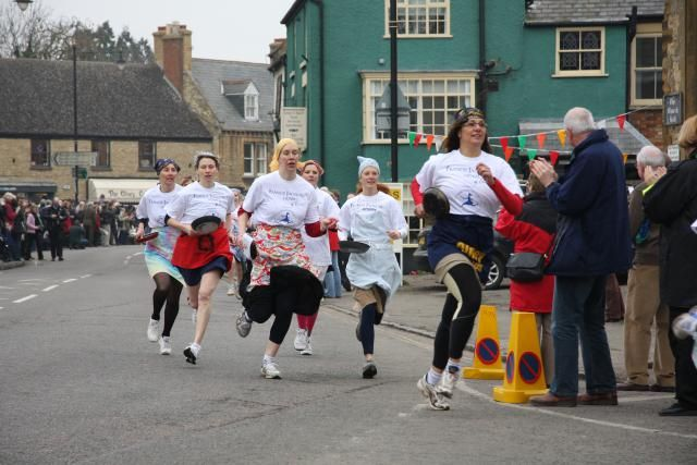 The ladies of Olney, home of Amazing Grace, have been flipping pancakes in a wacky women-only race for over 550 years. Go along to watch and eat.