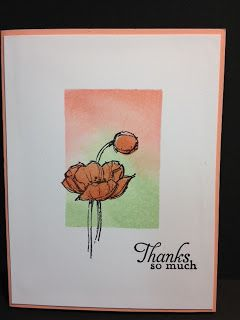 Sponging Simply Sketched Thank You Card Stampin' Up! Rubber Stamping Handmade Cards