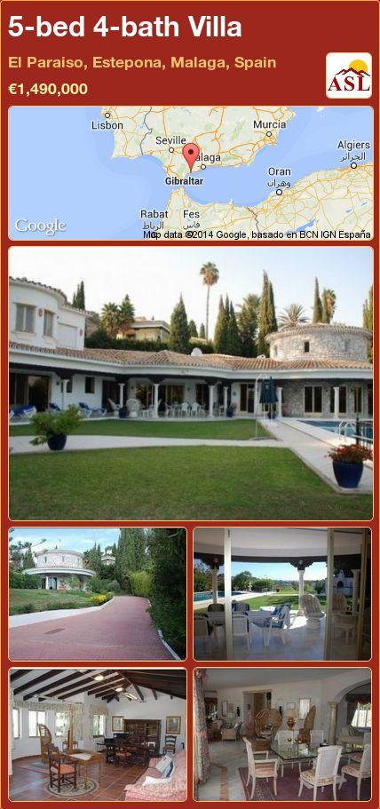 5-bed 4-bath Villa in El Paraiso, Estepona, Malaga, Spain ►€1,490,000 #PropertyForSaleInSpain