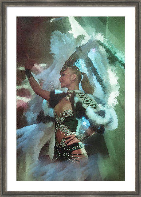 Jenny Rainbow Fine Art Photography Framed Print featuring the photograph Rio De Janeiro Carnival Dance by Jenny Rainbow