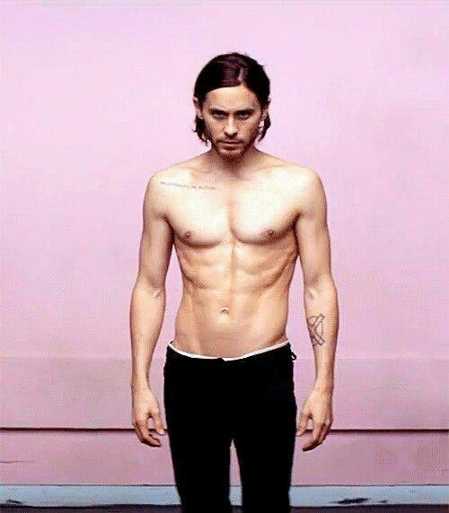 Jared Leto at 41 years old. He attributes his vegan diet for his overall youthful appearance.