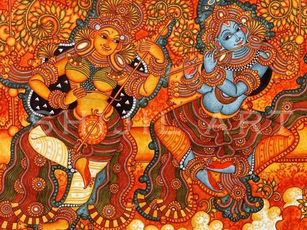 259 best kerala murals images on pinterest mural for Mural painting designs