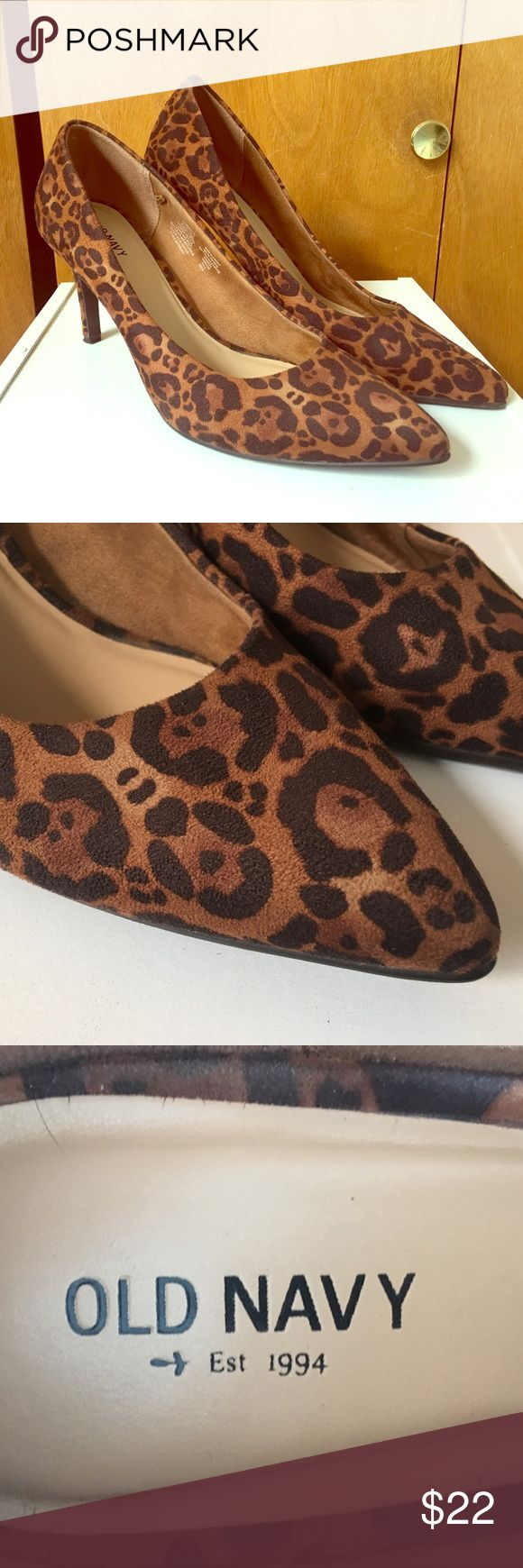 Animal Print High Heels Animal print high heels in a size 10. Work only once, size was too big. Old Navy Shoes Heels