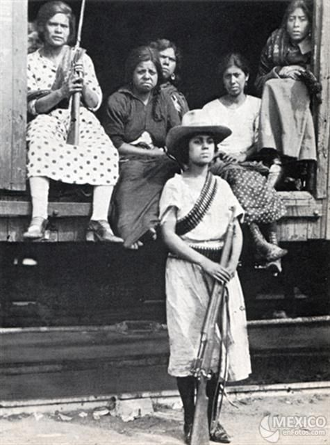 Soldaderas, Mexican Revolution (forced by Poncho Villa) let's get that straight!